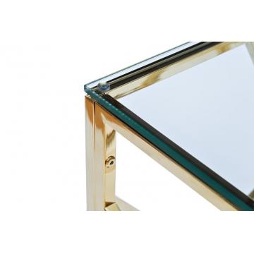 Консоль со стеклянной столешницей голд gy-cst2051214gold