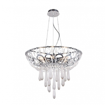 Подвесная люстра Crystal Lux Dorotea SP5 D450 Chrome