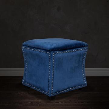 Банкетка с крышкой велюровая (синяя) 24yj-5005-06466