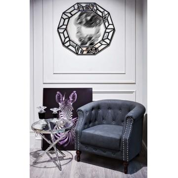 Столик журнальный металлический круглый серебряный 13rx6035-silver