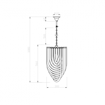 Светильник потолочный дымчатый 15-d6187-3grey