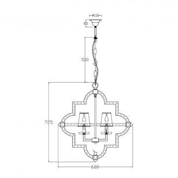 Светильник потолочный (хром) 20md3237-4ni