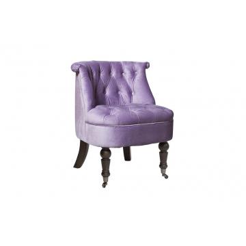 Кресло низкое сиреневое велюровое hd2202868-bgd