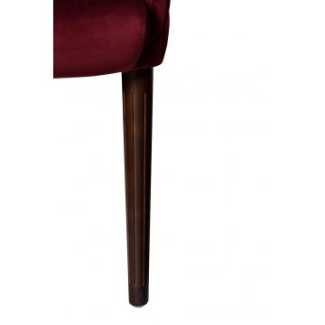 Кресло красное стеганное велюровое fc-32re