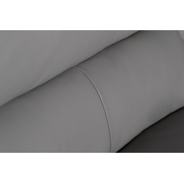 Диван кожаный трехместный светло-серый 32ZM-6503