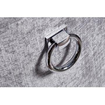 Стул бархатный серый (с кольцом) dy-409j-81136-15
