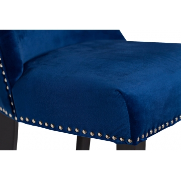 Стул велюровый синий 24yj-8058-07367