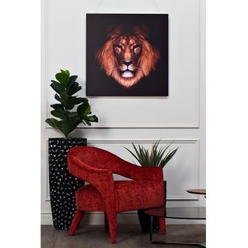 Кресло бархатное темно-красное zw-781bn39