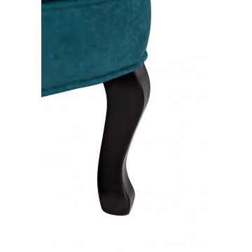 Кресло велюровое тёмно-бирюзовое pjc741-pj618