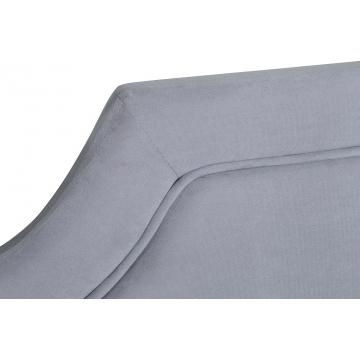 Кровать двуспальная светло-серая велюровая (с подъемным механизмом) n-bs2011-f gr