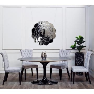 Стол обеденный овальный серый 33fs-dt3002o-bl