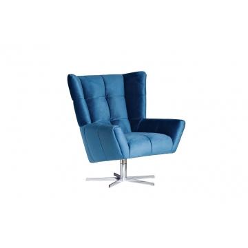 Кресло вращающееся синее велюровое zw-868 blu ss