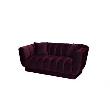 Диван двухместный велюровый темно-фиолетовый zw-81102 dvi