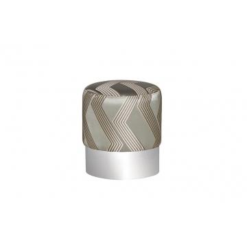 Пуф серебристый с металлическим ободом zw-694-a slv ss
