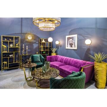 Диван трехместный велюровый фиолетовый 48my-1256-3 vlt gld