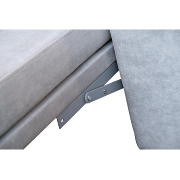 Диван угловой раскладной велюровый серый (левый) gt-lourens-3l-gre