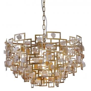 Подвесная люстра Crystal Lux Diego SP9 D600 Gold