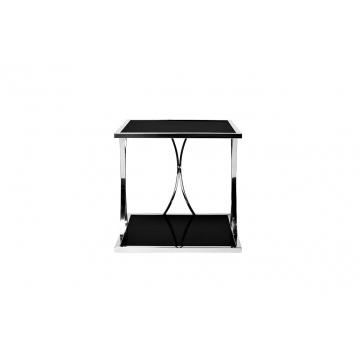 Столик из черного стекла квадратный