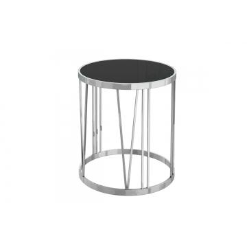 Столик из черного стекла круглый