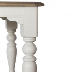 Стол обеденный раскладной белый sh23-hh.dt.03(бел.)
