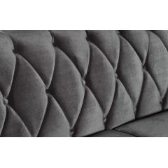 Диван бархатный трёхместный серый zw-0844(трехм. серый)
