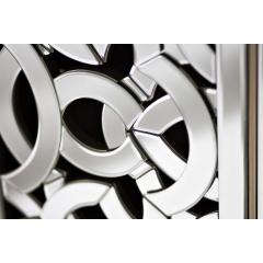 Тумбочка зеркальная с правосторонней дверью kfc973