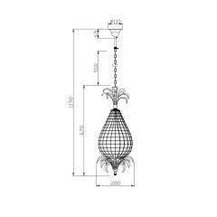 Светильник потолочный 15-d6182-1