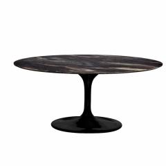 Стол обеденный овальный черный 33fs-dt3056-bl