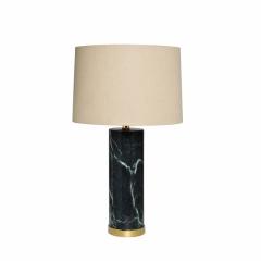 Лампа настольная мраморная (белый плафон) 22-88127