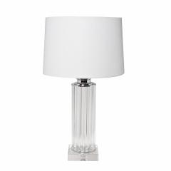 Лампа настольная стеклянная (светло-серый абажур) 22-87529