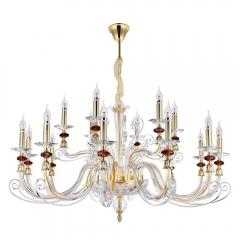 Подвесная люстра Crystal Lux Catarina SP12+6 Gold/Transparent-Cognac