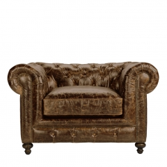 Кресло CIGAR CLUB LEATHER ARMCHAIR