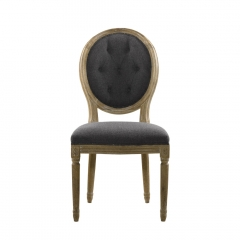 Стул Vintage Louis Round Button Side Chair