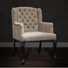 Кресло серо-бежевое бархатное pjc591-pj619