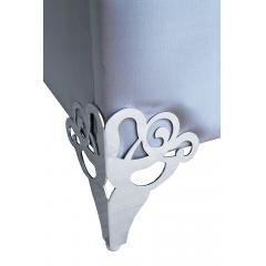 Кровать двуспальная с зеркальными вставками (голубая) kfc1096