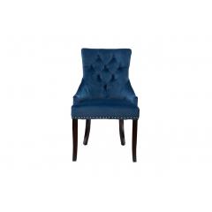 Стул велюровый синий 24yj-236-466