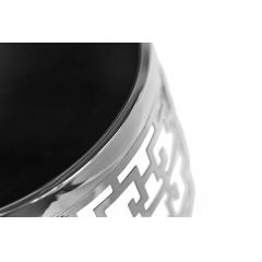 Журнальный столик круглый серебряный 13rxfs5080m-silver