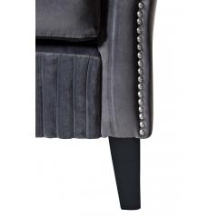 Кресло низкое велюровое серое pjs30801-pj636
