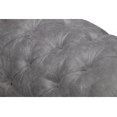 Диван двухместный серый
