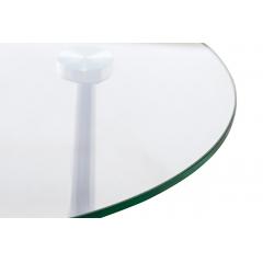 Столик журнальный приставной стеклянный 13rx5079l-silver