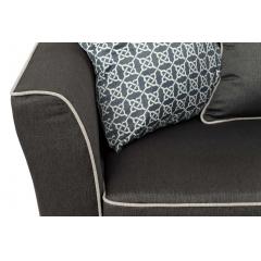 Диван трехместный с подушками (серый) 28-911-3GR7