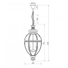 Светильник потолочный подвесной (хром) k2km0118p-4