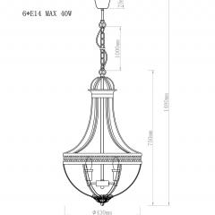 Светильник потолочный винтажный k2km0287p-4
