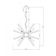 Светильник подвесной дымчатый 15-d8819-8grey