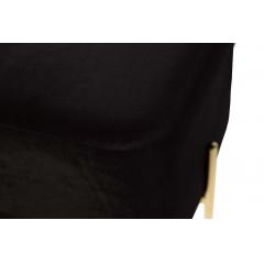 Банкетка черная велюровая gy-ben7772gold-bl