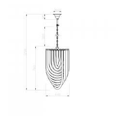 Светильник потолочный изящный 15-d6187-4