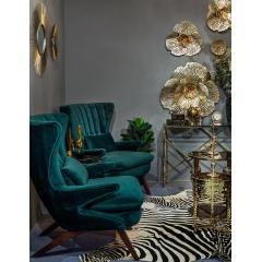 Кресло зеленое велюровое dy-733