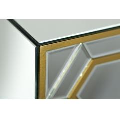 Тумбочка зеркальная с ящиками gd-1a03