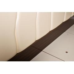 Кровать двуспальная бежевая из экокожи 31pl-839bk