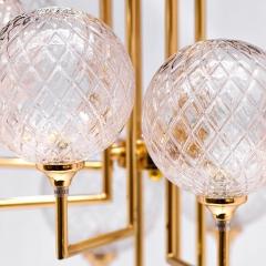 Светильник потолочный 6 плафонов (золотой) k2kg01p-8g